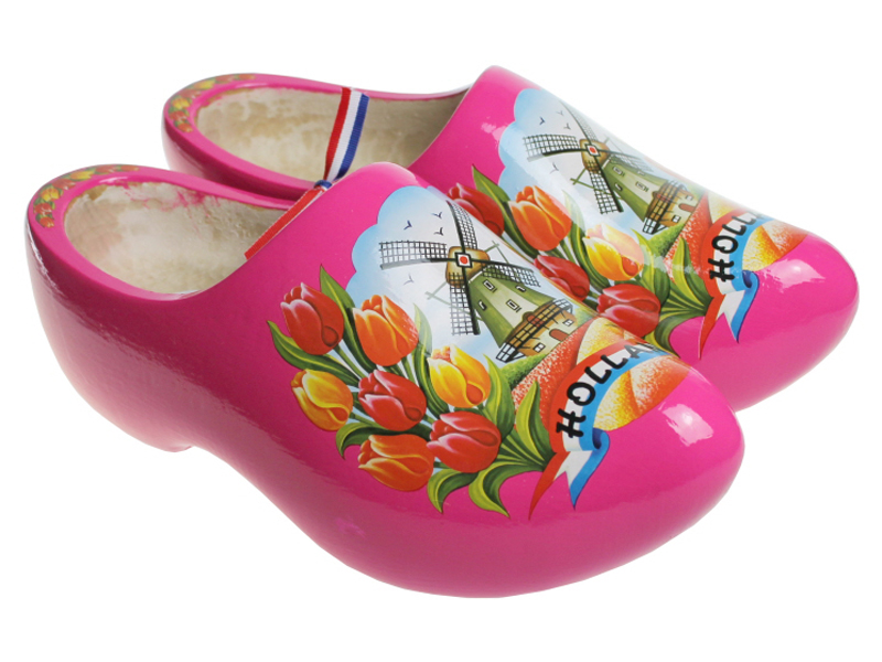 Dutch Wearing Wooden Shoes