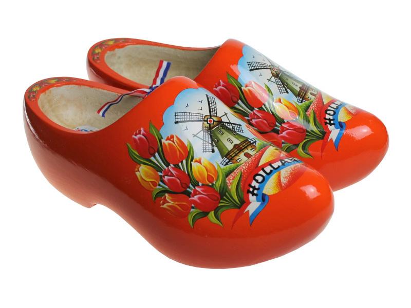 f09c104857 Orange Tulip Clogs - Dutch Clogs