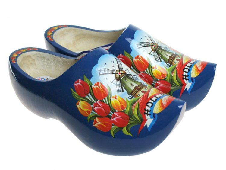 木鞋模型蓝色郁金香