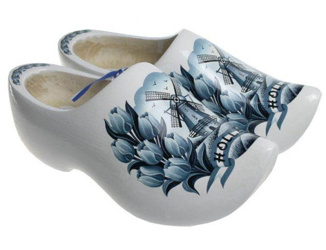 木鞋从代尔夫特模型白色郁金香