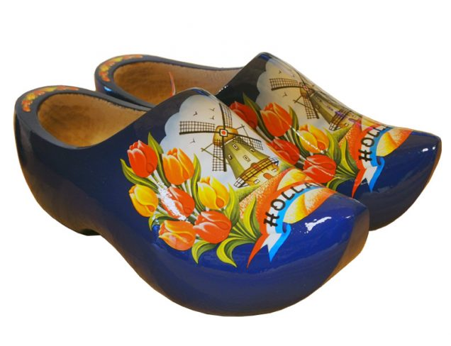Dutch Clogs Model Royal Blue Tulip
