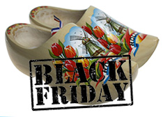 Dutch Clogs 15 percent discount Black Friday 2018