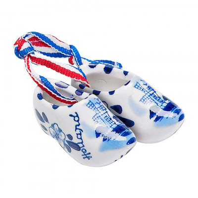 small dutch wooden shoes porcelain
