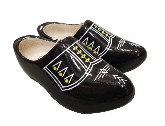 Black White Piping Dutch clogs