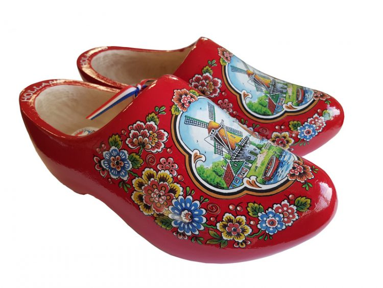 Red Flower clogs