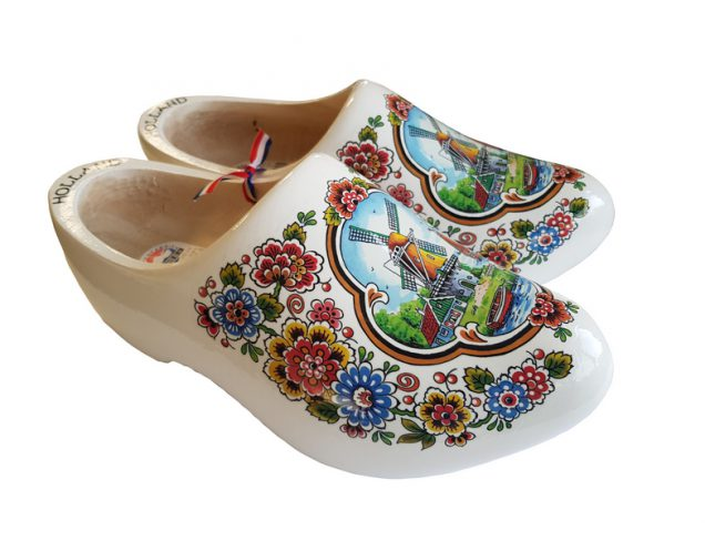 White Flower Clogs